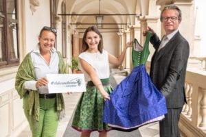Monika Primas, Maria Hausleitner, LR Christopher Drexler. Foto: steiermark.at/Streibl